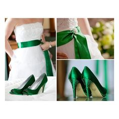 I want this for my wedding! Love the green heels for this Irish Wedding Styled Shoot! Wedding Music, Wedding Bells, Wedding Gowns, Our Wedding, Trendy Wedding, Wedding Bride, Perfect Wedding, Green Wedding, Wedding Colors
