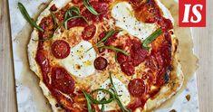 Unohda tiivis ja sitkeä gluteeniton pizzapohja. Pepperoni, Vegetable Pizza, Dairy Free, Recipies, Healthy, Food Ideas, Sugar, Drinks, Recipes