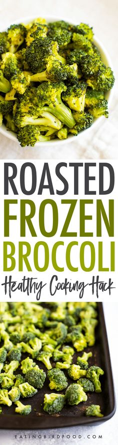 Yes, you CAN roast frozen broccoli — straight from the bag, no defrosting necessary. Trust me, this healthy cooking hack will save you so much time and money! #broccoli #cookinghack #kitchenhack