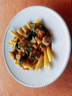 Cukkinis csirkeragu - Coolinart.cafe Penne, Waffles, Breakfast, Food, Morning Coffee, Essen, Waffle, Meals, Yemek