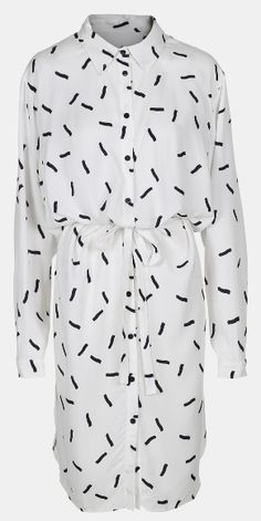 Woven twill heavy nature w confetti - Stoff & Stil - DIY shirt dress.