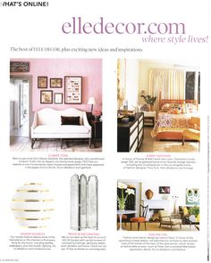 Some favorite looks from February/March 2011 Elle Decor