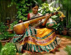 Traditinal classical instrument, Veena.