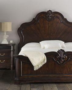 """""""Corsica"""" Bedroom Furniture by Lauren Ralph Lauren Wood Bed Design, Bedroom Bed Design, Bedroom Sets, Home Bedroom, Bedroom Decor, Large Living Room Furniture, Wood Bedroom Furniture, Furniture Design, Luxury Furniture"""
