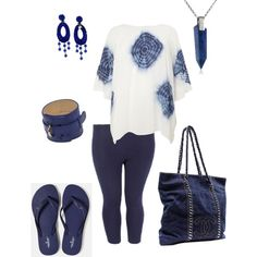Feeling blue- plus size, created by gchamama on Polyvore