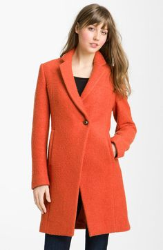 Just bought this cot today!!! Kenneth Cole Orange Notch Collar Bouclé Coat