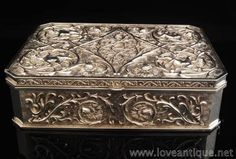 アンティークシルバー ジュエリーボックス   イギリスアンティーク Love Antique of London 英国アンティーク