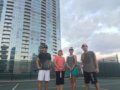 さとうあつこのハワイ不動産: モアナパシフィックでテニス