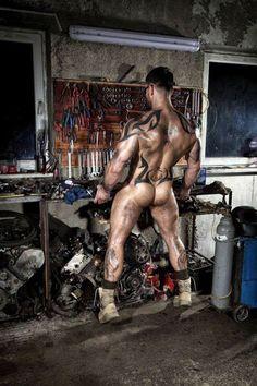 muscle hair & men