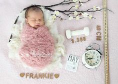 Darling newborn photo setup