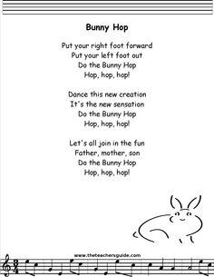 bunny hop lyrics printout - /p/ final