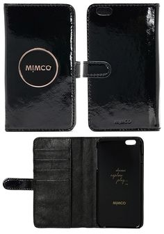 FREE SHIPPING MIMCO MIM POUCH FLIP CASE FOR PHONE 6 PLUS Women Wallets high quality leather wallet fashion BLACK $19.99