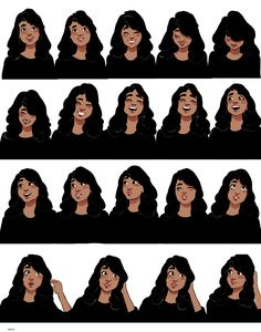 "Draw Facial Expression bevsi: animation frames omg @ all the people asking ""can i date her"" - i modeled her vaguely after priyanka chopra and her cute mannerisms << previous pinner - Character Design Cartoon, Character Design References, Character Drawing, Character Illustration, Beverly Johnson, Timberwolf, Drawing Expressions, Drawing Reference, Learn Drawing"