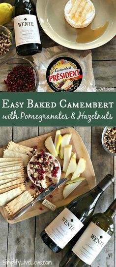 This delicious recipe for easy baked Camembert with pomegranates and hazelnuts is simply delicious when served with pears and crackers! AD
