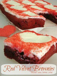 {Dessert Now, Dinner Later!} Red Velvet Brownies