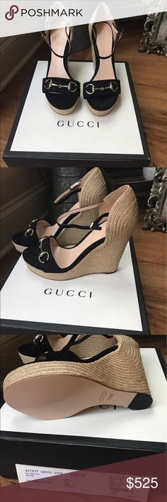 Gucci wedges Brand new, never wore. Bought from Gucci store.. box and dust bags included 450 🅿️🅿️ Gucci Shoes Wedges