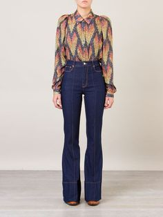 Jean Outfits, Fashion Outfits, Womens Fashion, Mode Jeans, Pants Outfit, Paris Fashion, Bell Bottom Jeans, Denim, Casual