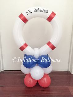Ahoy there! #nautical #balloons Balloon Centerpieces, Balloon Decorations, Baby Boy Birthday, Sailor Birthday, Its A Boy Balloons, Nautical Party, Balloon Columns, Holidays And Events, Baby Boy Shower