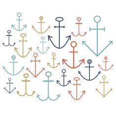 INSTANT DOWNLOAD // Digital Clip Art // Nautical Clip Art // Boat anchors // Summer Clip art // Ocean Clipart // Commercial and Personal Use