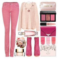 """Pink"" by grozdana-v ❤ liked on Polyvore featuring Alexander Wang, Bobbi Brown Cosmetics, Maryam Nassir Zadeh, MAC Cosmetics, Neiman Marcus, Nails Inc., Elsom, Avon and Clarins"