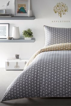Buy Appletree Dari Geo Piped Cotton Duvet Cover and Pillowcase Set from the Next UK online shop Queen Bedding Sets, Luxury Bedding Sets, Duvet Sets, Bed Sets, Childrens Duvet Covers, Matching Bedding And Curtains, Cheap Bed Sheets, Buy Bed, Bedding Sets Online