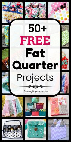Sewing Projects using Fat Quarter fabric bundles. 50+ free fat quarter projects, tutorials, and diy sewing projects. Make bags & purses, stuff for kids, items for the home, and more. Great ideas for quick and easy diy gifts. #SewingSupport #FatQuarter #Sewing #Projects #Pattern #Diy #Tutorials #Free