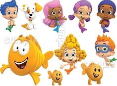 BUBBLE GUPPIES CHARACTER Edible Image Sheet Cake Decoration Topper Birthday  #Unbranded