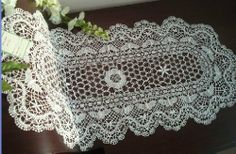 Vintage All Handmade bobbin lace Oval table runner-white by Victoria's Deco, http://www.amazon.com/dp/B0037KFRNU/ref=cm_sw_r_pi_dp_TOW2pb01PBBW2