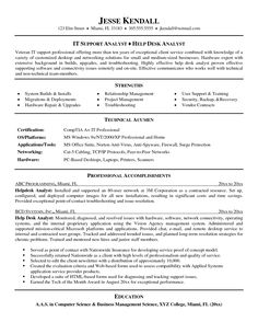 help desk resume examples