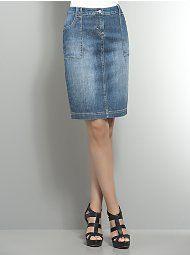 I love jean skirts!