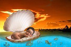 Newborn props | Dreamcatcher Digital Newborn backdrop photo | Newborn background boys & girls | Ocean by GraphicsSt on Etsy