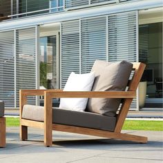 Browse our teak deep seating collection online. Find quality outdoor chairs, sofas, couches, lounge chairs & many more outdoor teak seating options here. House Furniture Design, Diy Garden Furniture, Balcony Furniture, Home Decor Furniture, Outdoor Furniture Plans, Outside Furniture, Japanese Home Decor, Furniture Inspiration, Chair Design