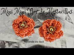 Mini Flor de Mostacillas /earring flower – You… - DIY Schmuck Beading Tutorials, Beading Patterns, Beaded Rings, Beaded Jewelry, Earring Tutorial, Flower Tutorial, Beaded Flowers, Bead Crafts, Beaded Embroidery