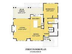 The South Creek is offered by SDC House Plans. View more Coastal House Plans on the SDC website. Beach House Floor Plans, Coastal House Plans, New House Plans, Coastal Homes, Front Stairs, Two Bedroom House, House On Stilts, Cottage Plan, House Blueprints
