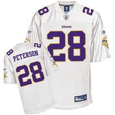 e8ddb65d7 Minnesota Vikings 28 Adrian Peterson full White Jersey White Jersey