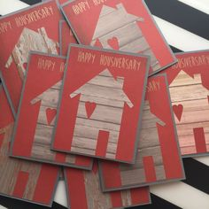 Heart of Home Happy Housiversary, Realtor Cards, Boxed set of 12, Realtor House Cards by DaraLorraine on Etsy