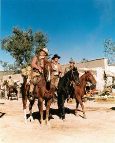 "From one of my favorite westerns ever! ""Big Jake"" - John Wayne as Jacob McCandles, Patrick Wayne as James McCandles, and the wonderful Christopher Mitchum as Michael McCandles :)"