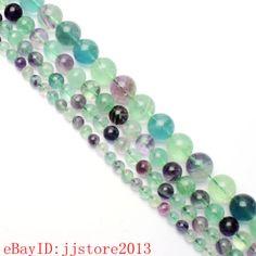 6-8-10-12-14mm-Natural-Mixed-Fluorite-Round-Shape-Gemstone-Loose-Beads-Strand15