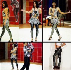 Linda Carol Castro usa fusô Live! em ensaio da dança dos famosos.