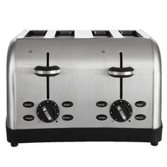 Sabichi 4 Slice Toaster High Lift Wide Slot with Removable Tray Black Gloss