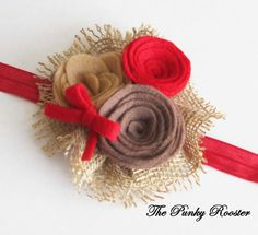 Shop for on Etsy, the place to express your creativity through the buying and selling of handmade and vintage goods. Headband Baby, Newborn Headbands, Felt Flowers, Fabric Flowers, Baby Jewelry, Burlap Crafts, Country Crafts, Craft Corner, Girls Hair Accessories