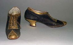 Heeled oxford shoes, 1875-80, Costume Institute of the Metropolitan Museum of Art