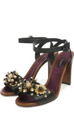 Dolce & Gabbana Босоножки Черный 63 500 Р.
