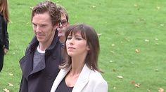 Benedict Cumberbatch arrived with his wife Sophie Hunter to the Burberry catwalk show at London Fashion Week.  Also in attendance were models Cara Delevingne and Kate Moss, as well as actress Sienna Miller.