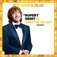 """In his Broadway debut, the 26-year-old Grint (Ron Weasley of the ""Harry Potter"" series), comes on like a fireball as the masochistic British director, a darling of the critics."" - Playbill    #RupertGrint #Broadway"