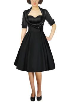 50s Swing Side Button Dress by Amber Middaugh -Save 37% at Chicstar.com Coupon: AMBER37