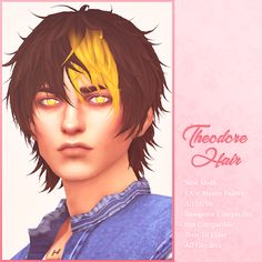 Sims 4 Mods Clothes, Sims 4 Clothing, Sims Mods, Sims 4 Cas, The Sims, Sims Cc, Sims 4 Hair Male, Sims Hair, Sims 4 Tattoos