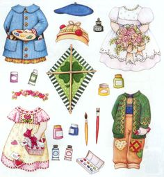 Ann Estelle Magnetic Event Clothes Set * 1500 free paper dolls for other Pinterest paper doll pals at Arielle Gabriel's The International Paper Doll Society *
