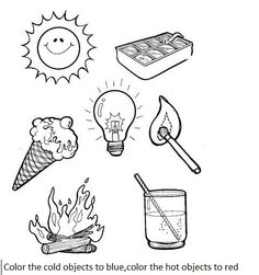 Hot and cold pictures for preschool Preschool Science Worksheets Free Printables m