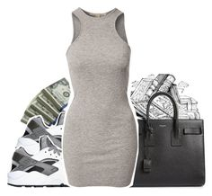 """""""00.00 .0000"""" by kingsidd ❤ liked on Polyvore featuring Yves Saint Laurent, NIKE and NLY Trend"""